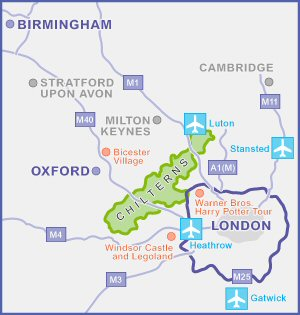 Chilterns location map