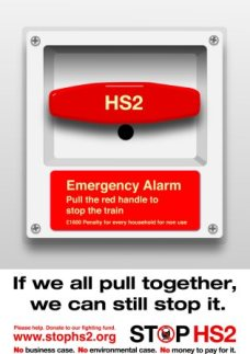 emergency Stop HS2 poster