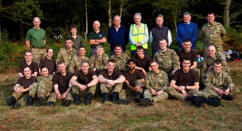 RAF trainees clear WWI trenches on Berkhamsted Common